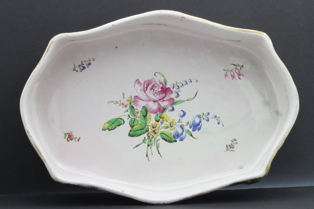 FRENCH FAIENCE CENTERPIECE, LATE19TH/EARLY 20TH CENTURY - 5