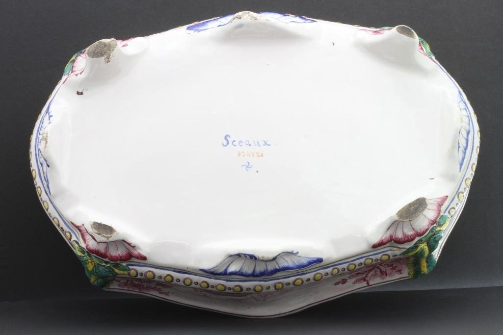 FRENCH FAIENCE CENTERPIECE, LATE19TH/EARLY 20TH CENTURY - 6