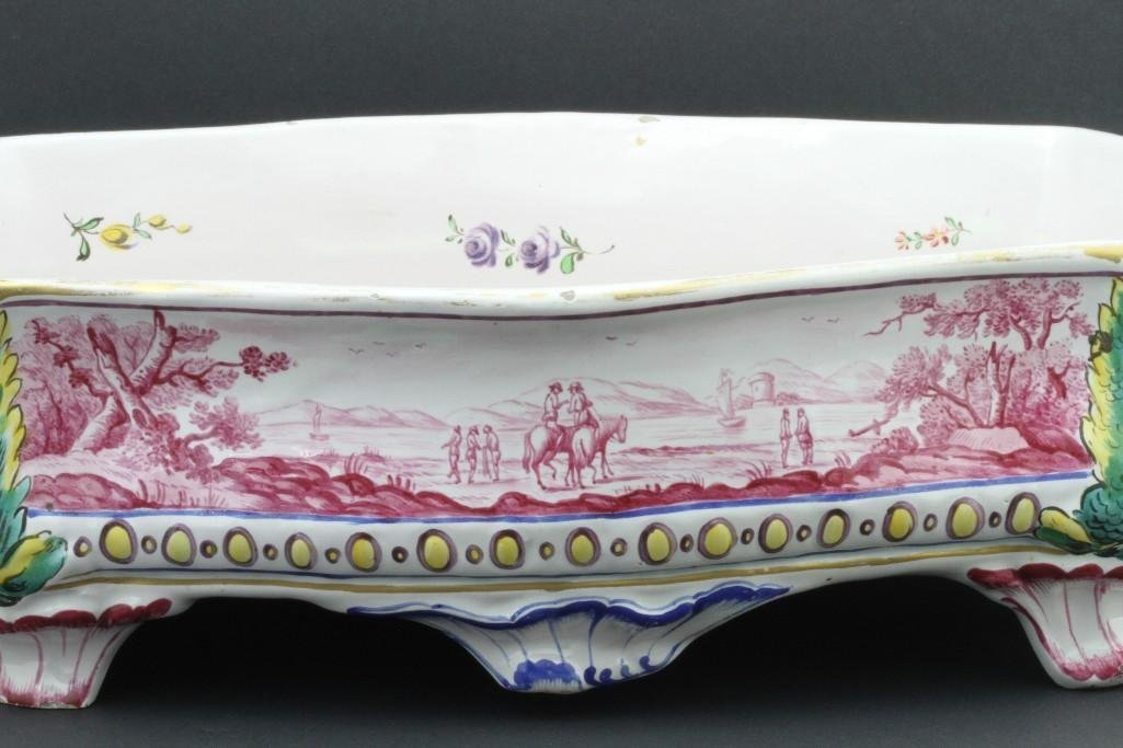 FRENCH FAIENCE CENTERPIECE, LATE19TH/EARLY 20TH CENTURY - 7
