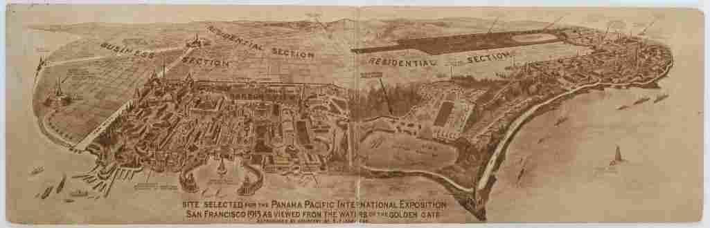 1915 PANAMA-PACIFIC INTERNATIONAL SAN FRANCISCO MAP