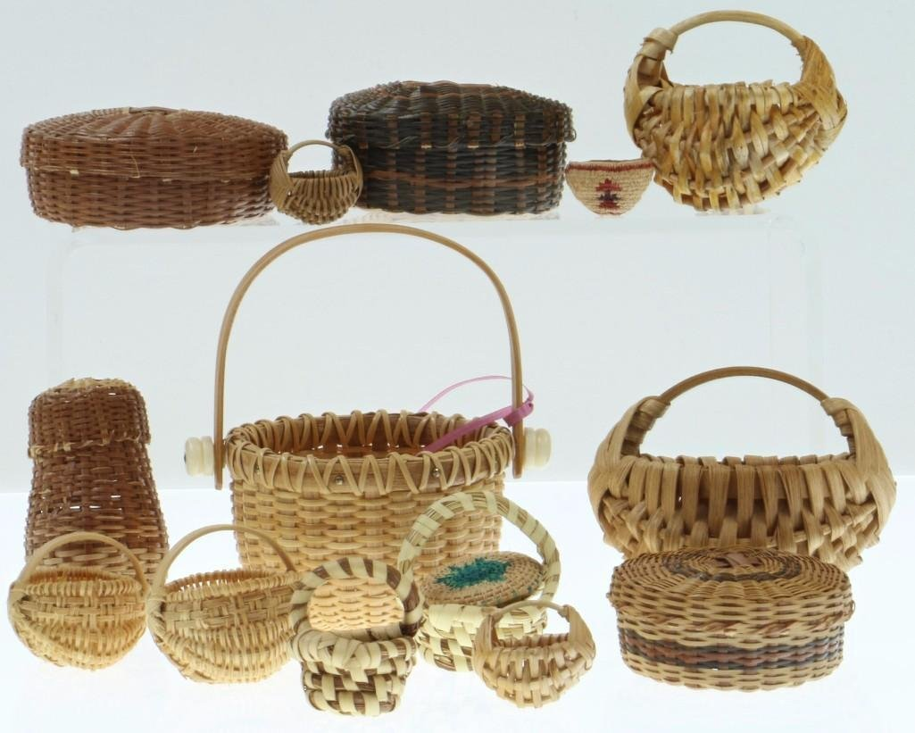 COLLECTION OF NORTH AND CENTRAL AMERICAN BASKETS