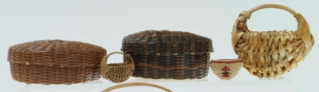 COLLECTION OF NORTH AND CENTRAL AMERICAN BASKETS - 2