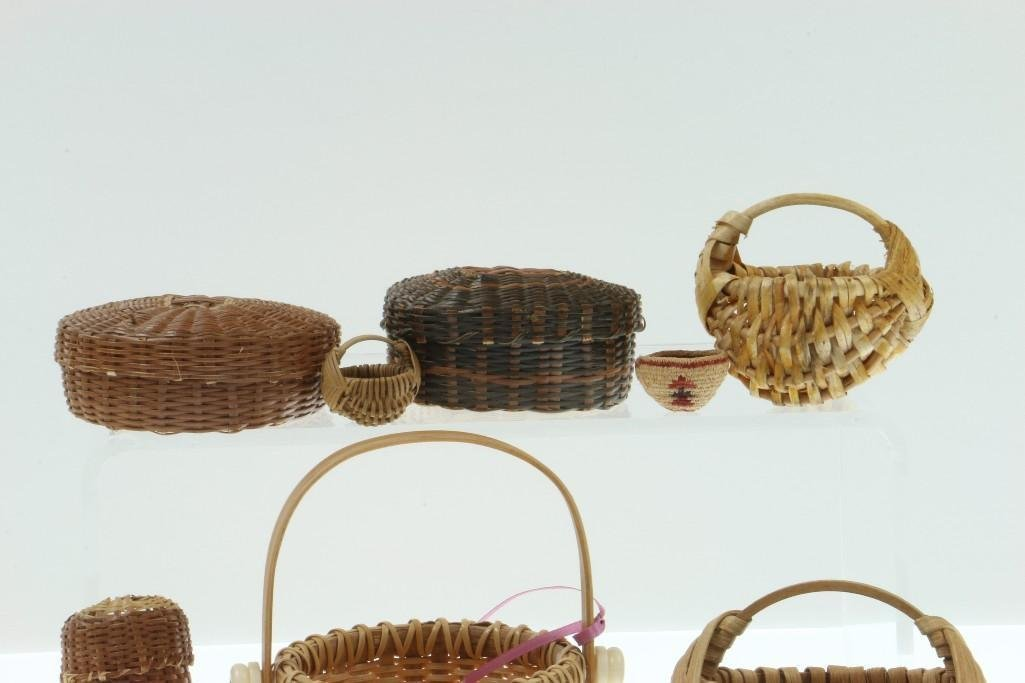 COLLECTION OF NORTH AND CENTRAL AMERICAN BASKETS - 3