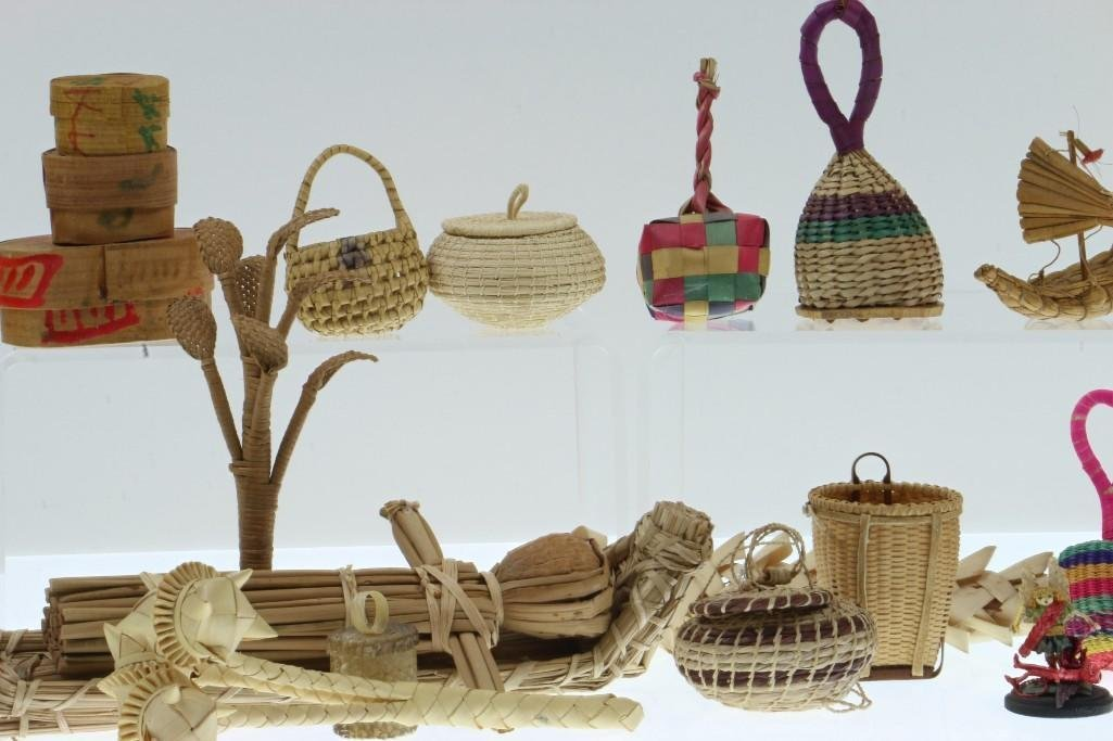 COLLECTION OF LATIN AMERICAN BASKETRY ITEMS/CONTAINERS - 2