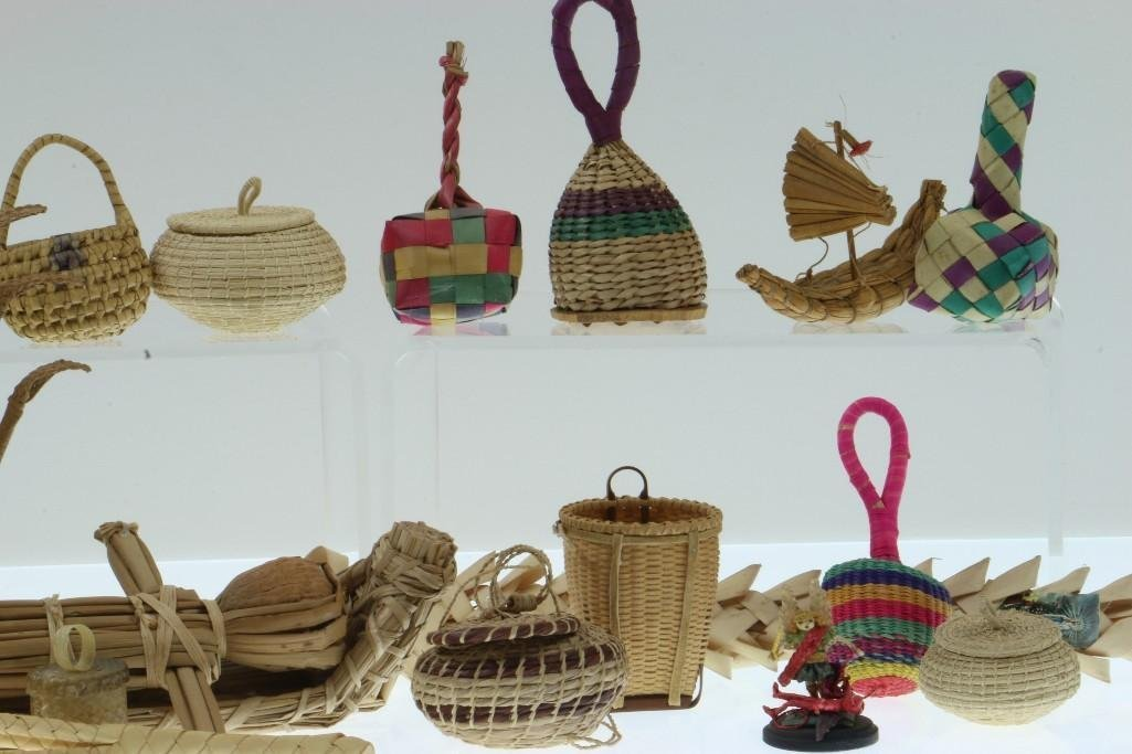 COLLECTION OF LATIN AMERICAN BASKETRY ITEMS/CONTAINERS - 3