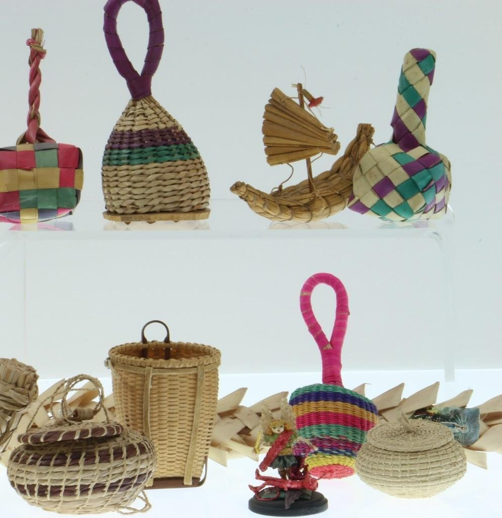 COLLECTION OF LATIN AMERICAN BASKETRY ITEMS/CONTAINERS - 4