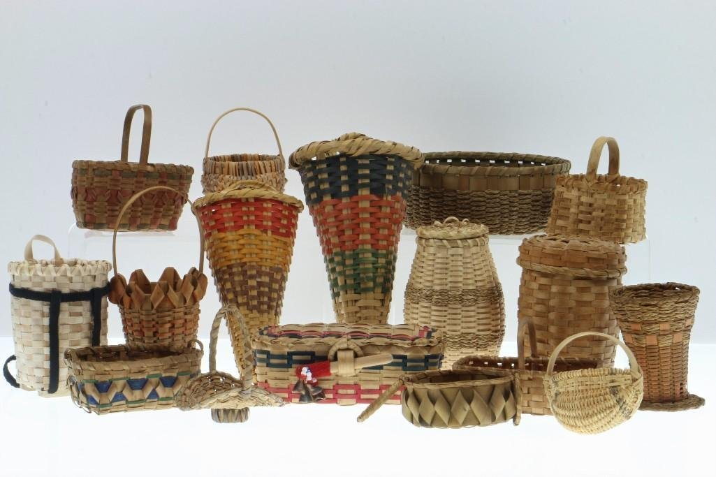 COLLECTION OF GREAT LAKES AND SOUTHEAST BASKETS