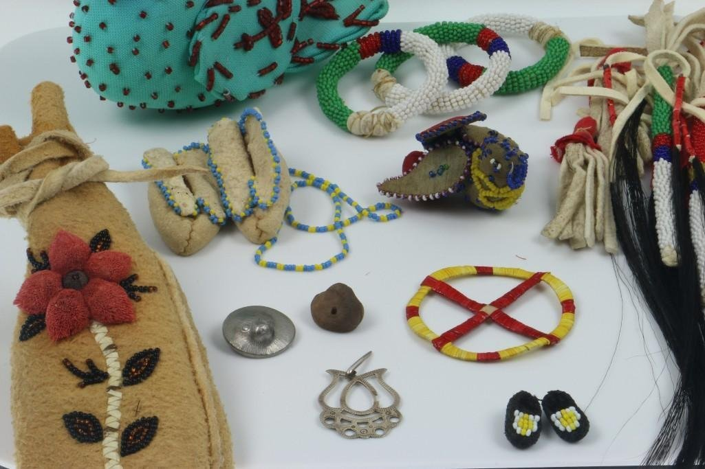 COLLECTION OF NATIVE AMERICAN ADORNMENTS - 2