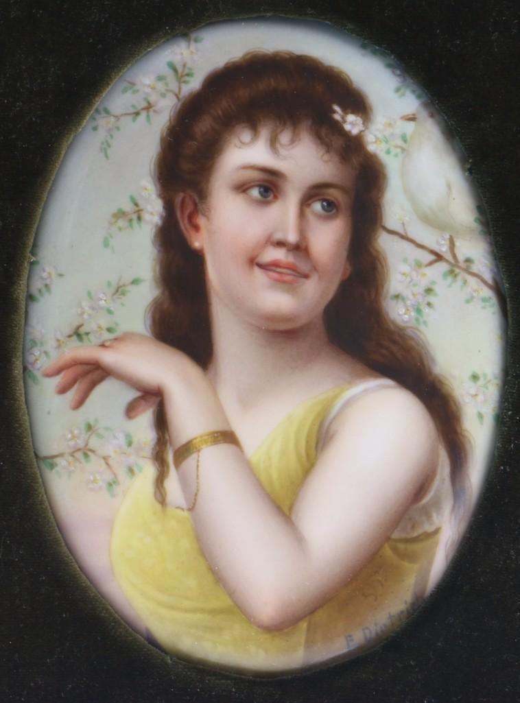 19TH CENTURY CONTINENTAL PAINTED PORCELAIN PLAQUE