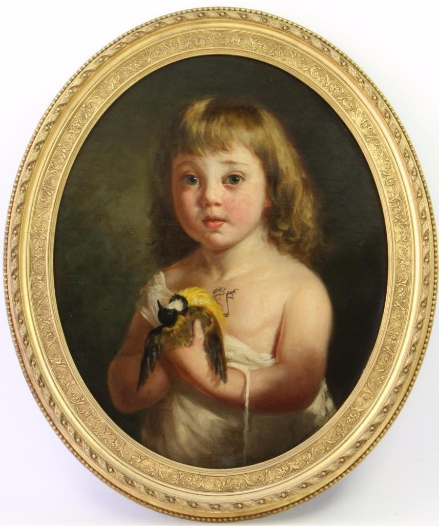 Continental school (19th century) Portrait