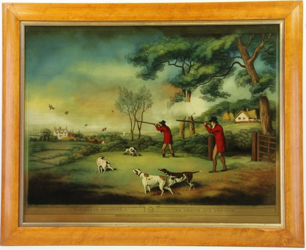 An English hunting print