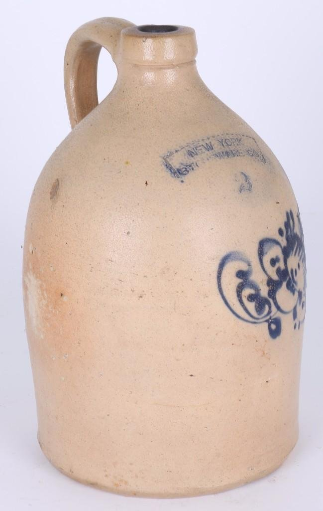 NEW YORK 2 GALLON STONEWARE CO. JUG