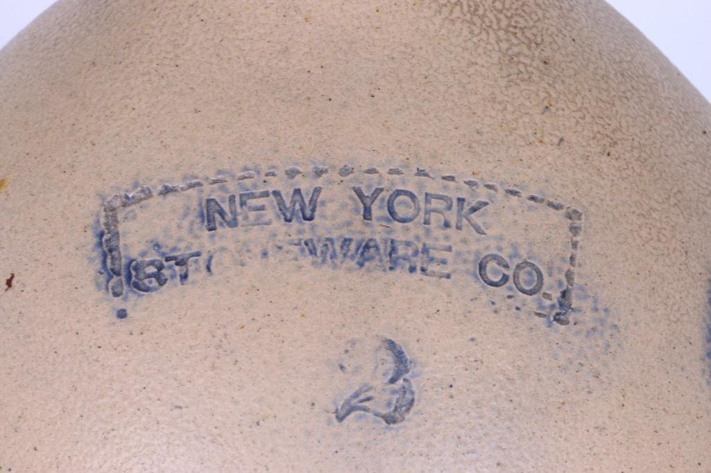 NEW YORK 2 GALLON STONEWARE CO. JUG - 3