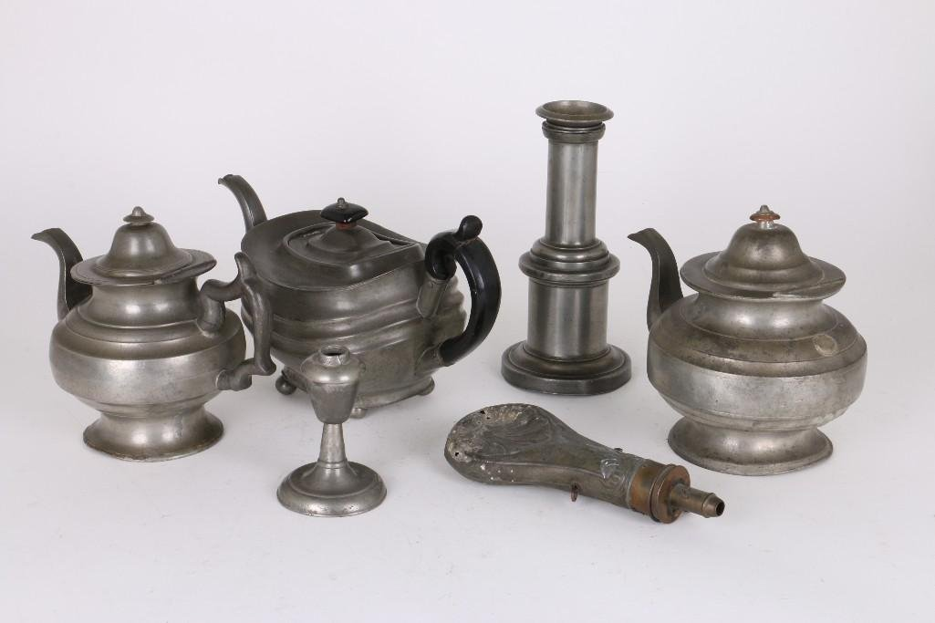 SIX PIECES OF PEWTER - 2