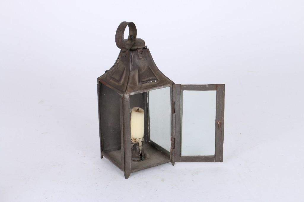 TWO TIN & ONE IRON FLUID LAMPS - 4