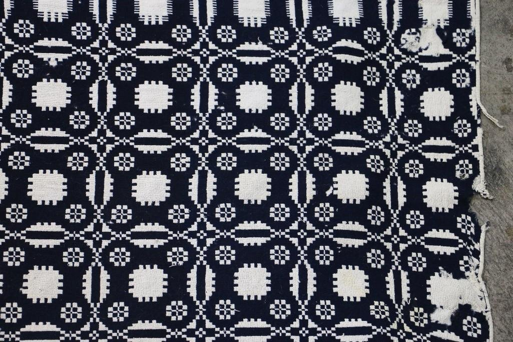 THREE AMERICAN JACQUARD WOVEN QUILTS - 10