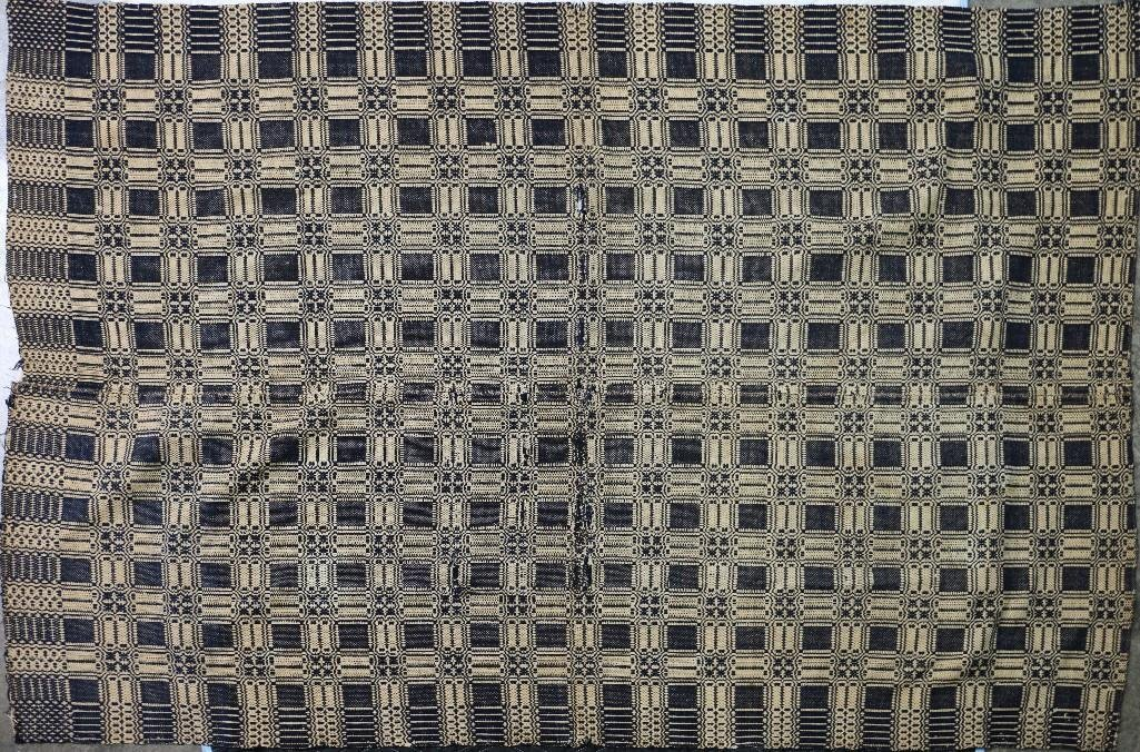THREE AMERICAN JACQUARD WOVEN QUILTS - 4