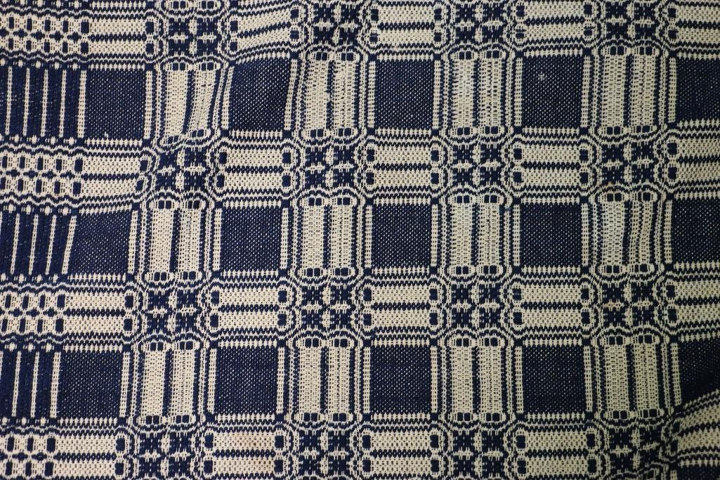 THREE AMERICAN JACQUARD WOVEN QUILTS - 6