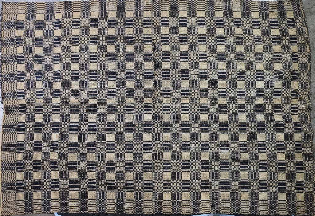 THREE AMERICAN JACQUARD WOVEN QUILTS - 7