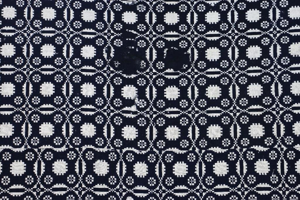 THREE AMERICAN JACQUARD WOVEN QUILTS - 8
