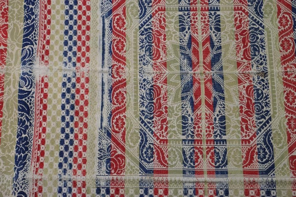 THREE AMERICAN JACQUARD WOVEN QUILTS - 9