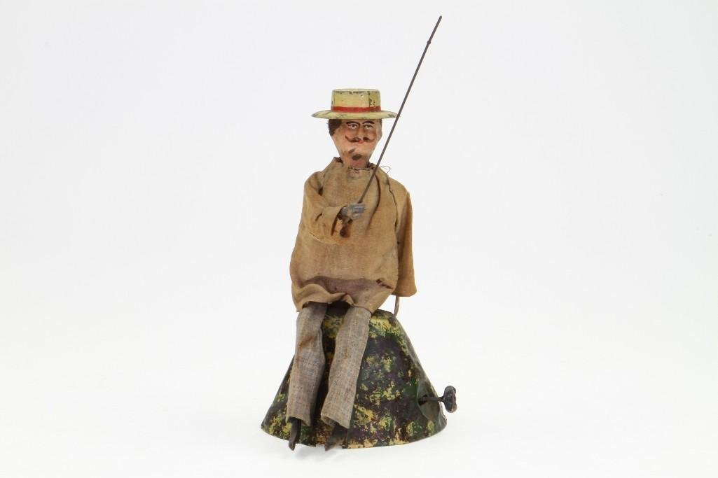 Clothed Fisherman Figure