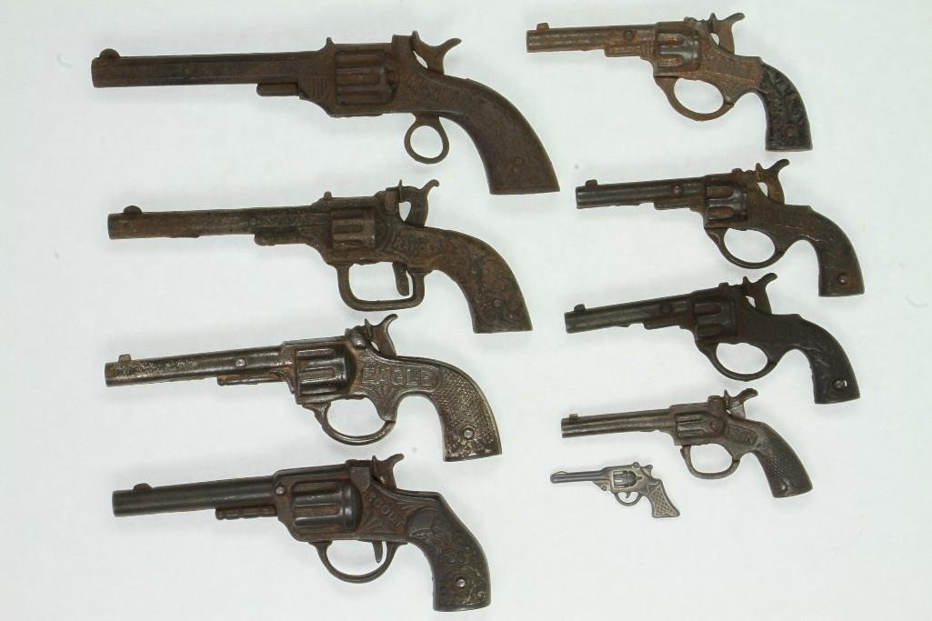 Lot of (9) Revolver Type Toy Guns - 2