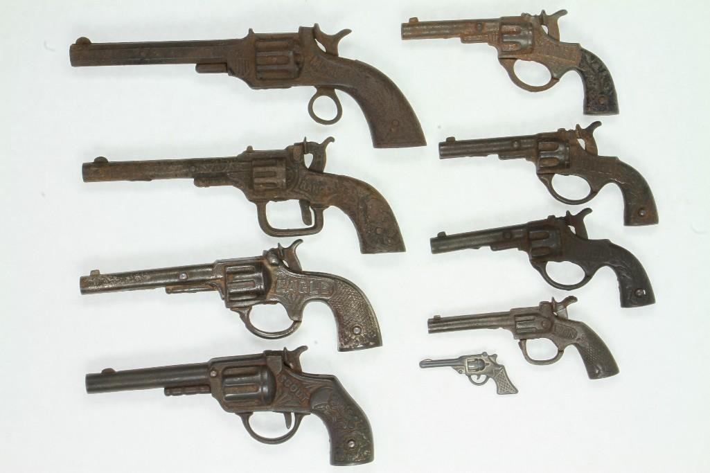 Lot of (9) Revolver Type Toy Guns - 3