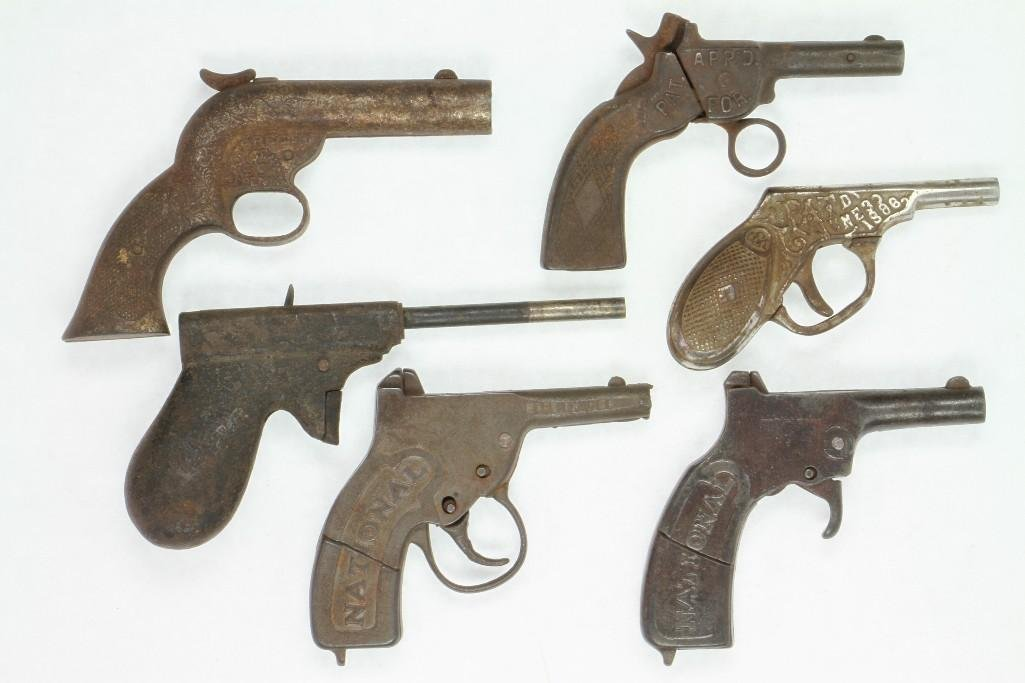 Lot of (6) Single Shot Cap Pistols