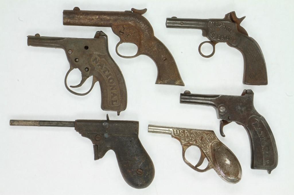 Lot of (6) Single Shot Cap Pistols - 2