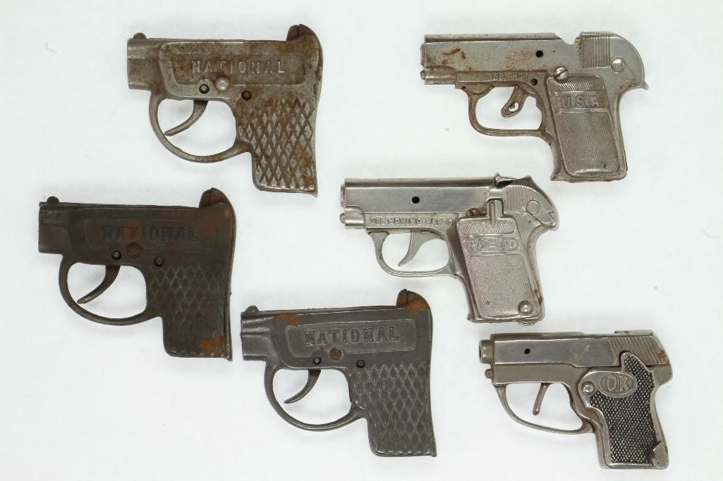 (6) Cap Pistols Modeled After Colts Pocket Automatic - 2