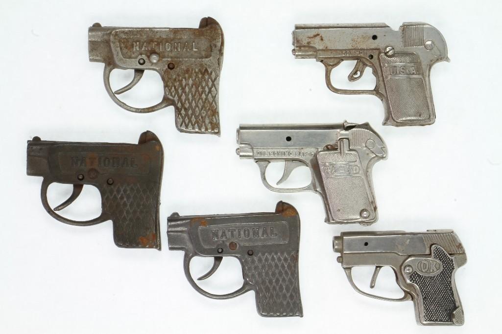 (6) Cap Pistols Modeled After Colts Pocket Automatic - 3