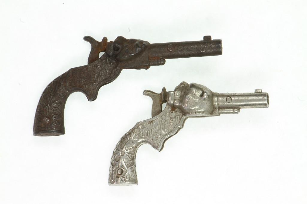 (2) Single Shot Cap Pistols From 1890