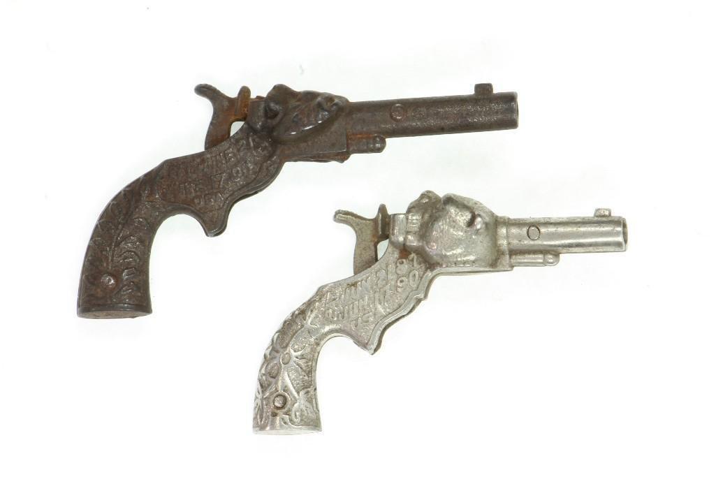 (2) Single Shot Cap Pistols From 1890 - 2
