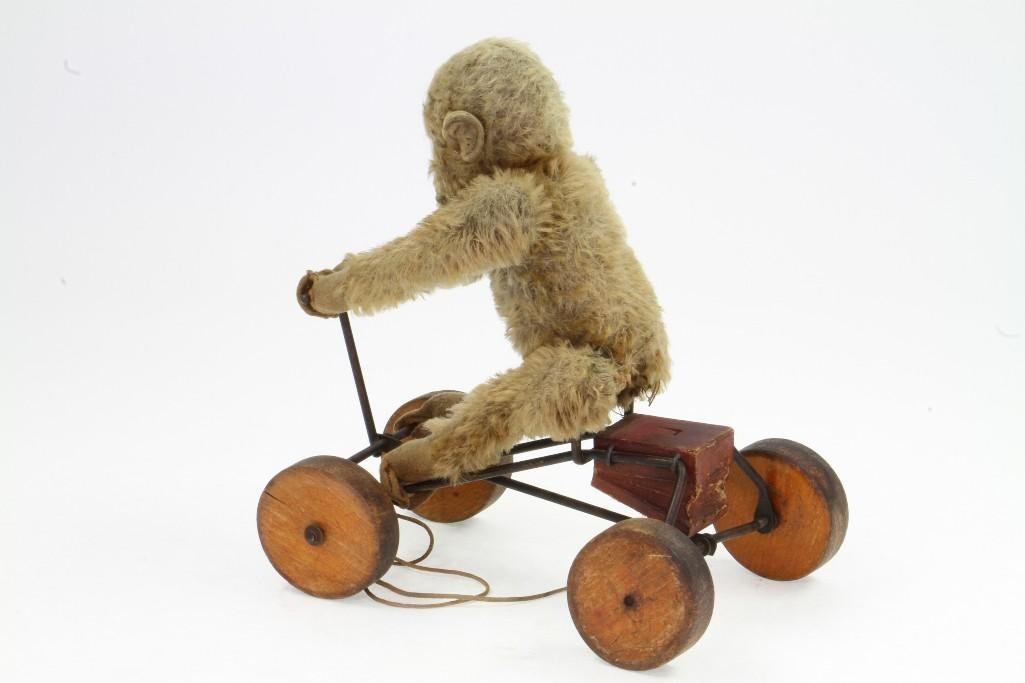 Monkey on Cart Pull Toy - 2