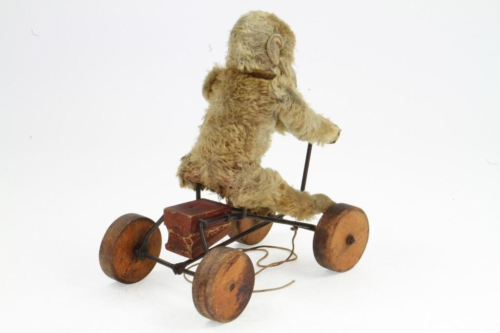 Monkey on Cart Pull Toy - 3