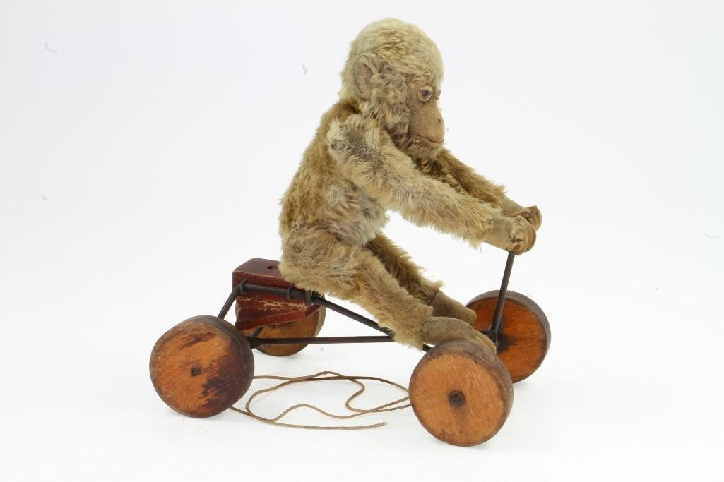 Monkey on Cart Pull Toy - 4
