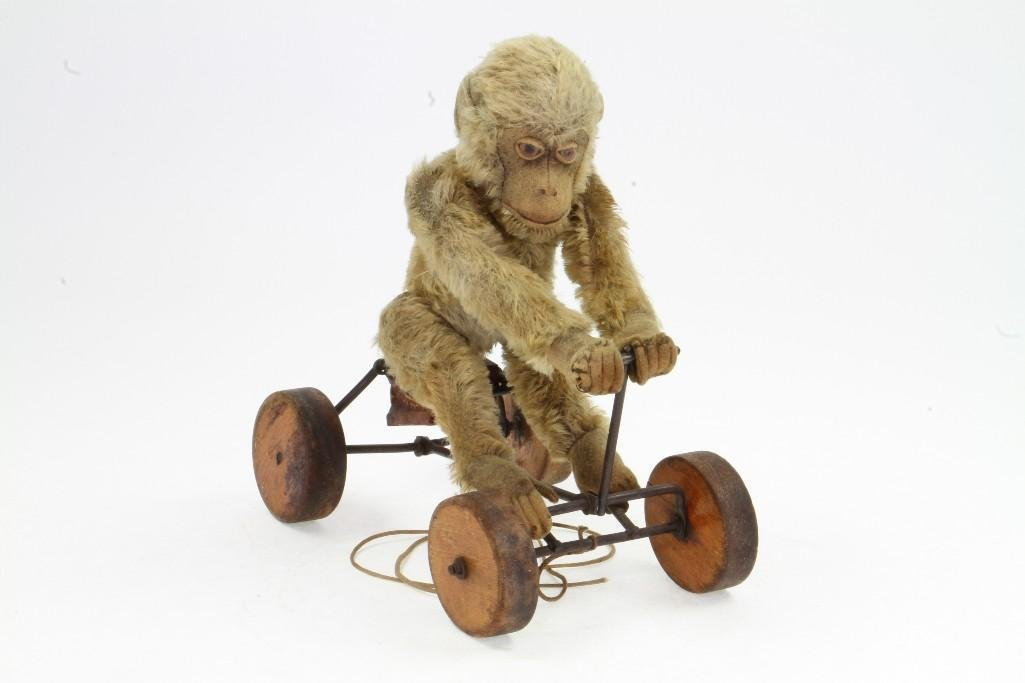 Monkey on Cart Pull Toy - 5