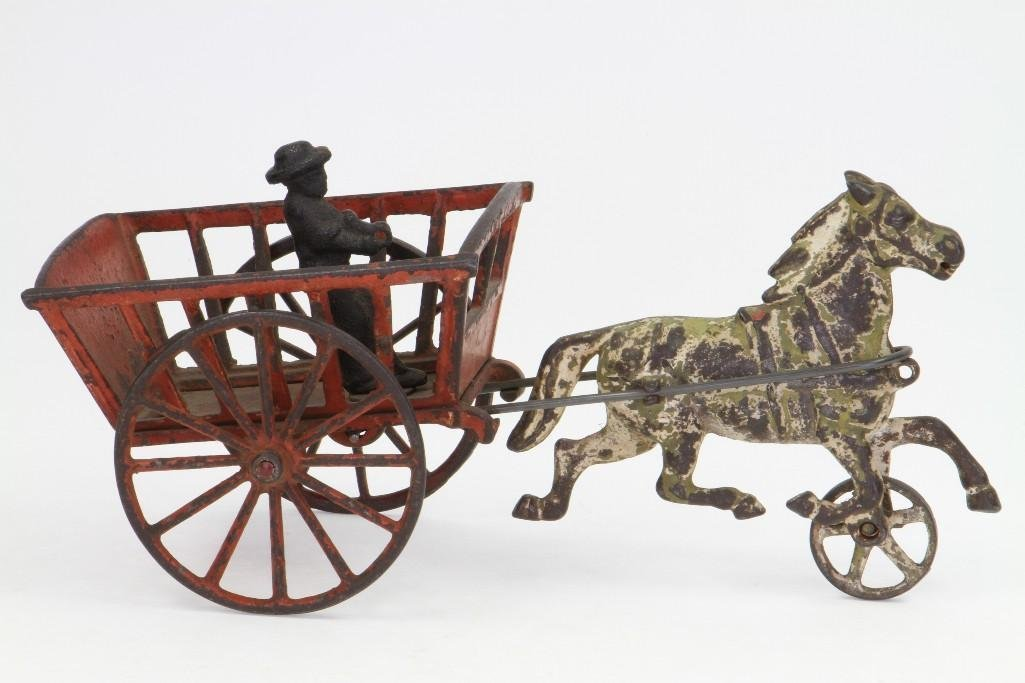 Horse Drawn Cart with Figure