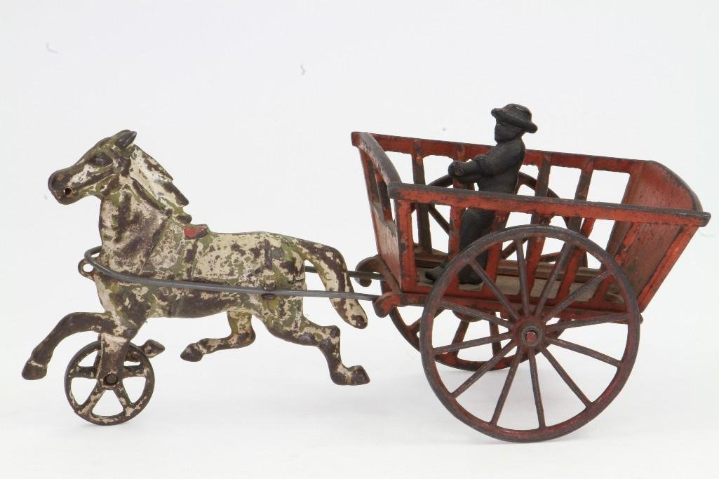 Horse Drawn Cart with Figure - 2