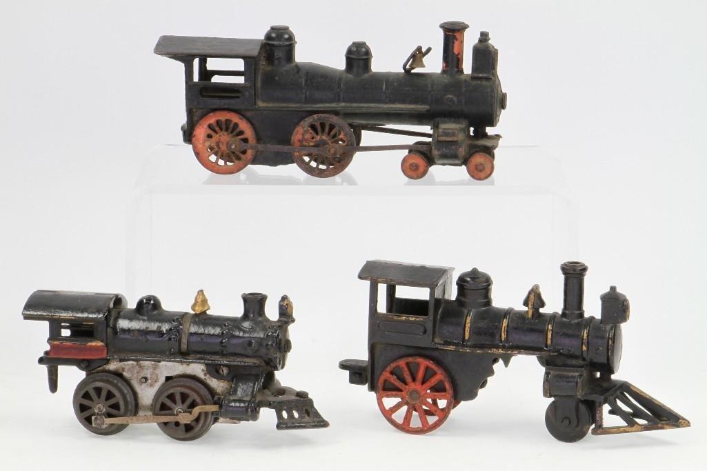 Lot of (3) Cast Iron Steam Locomotives