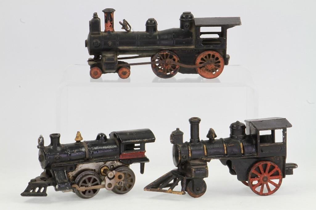 Lot of (3) Cast Iron Steam Locomotives - 2