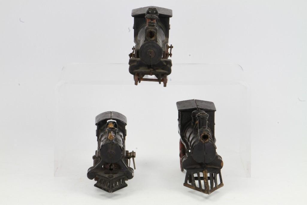 Lot of (3) Cast Iron Steam Locomotives - 3