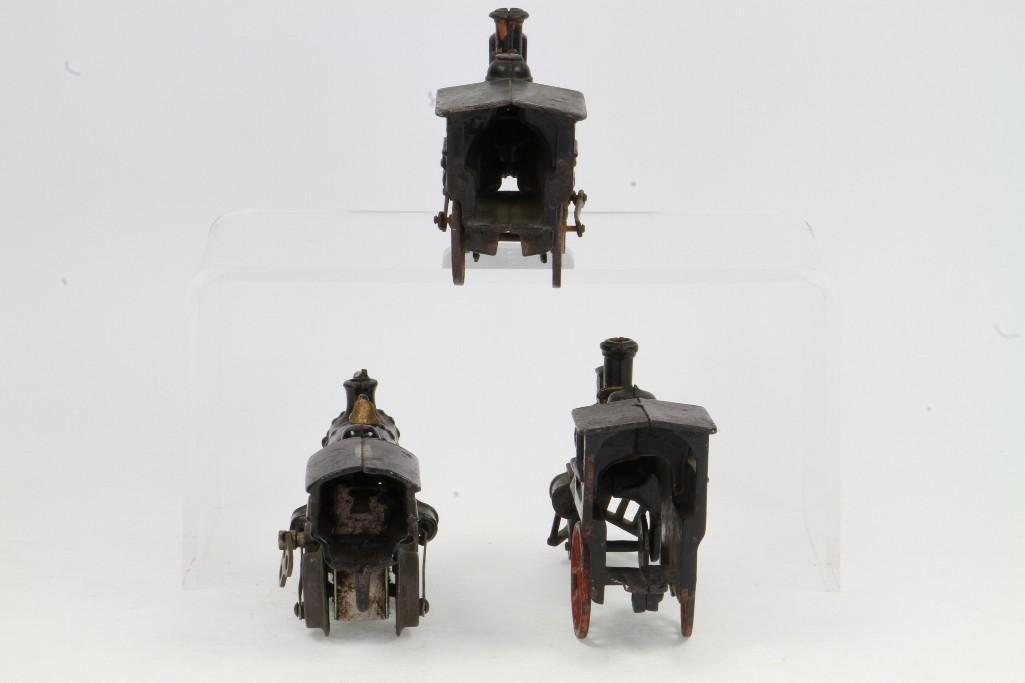 Lot of (3) Cast Iron Steam Locomotives - 4