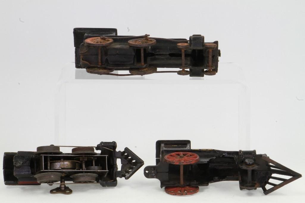 Lot of (3) Cast Iron Steam Locomotives - 5