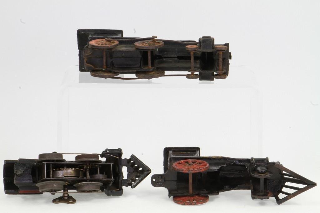 Lot of (3) Cast Iron Steam Locomotives - 6