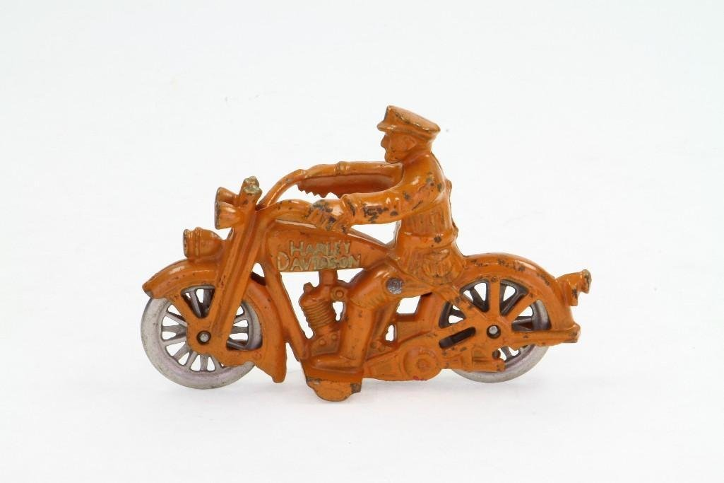 Harley Davidson Motorcycle with Rider - 3