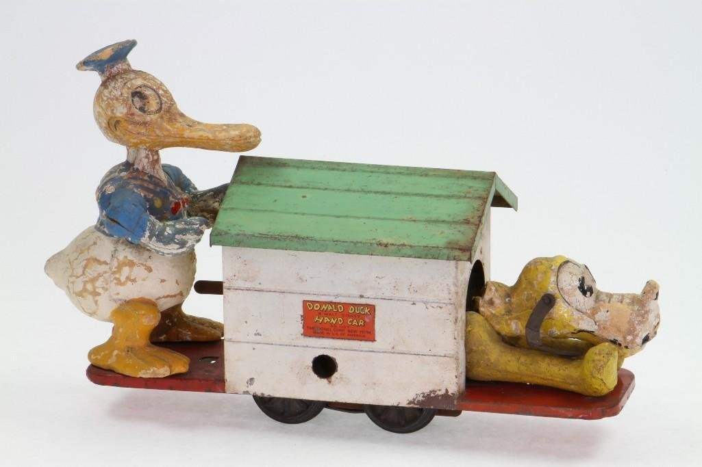 Lionel Donald Duck and Pluto Handcar
