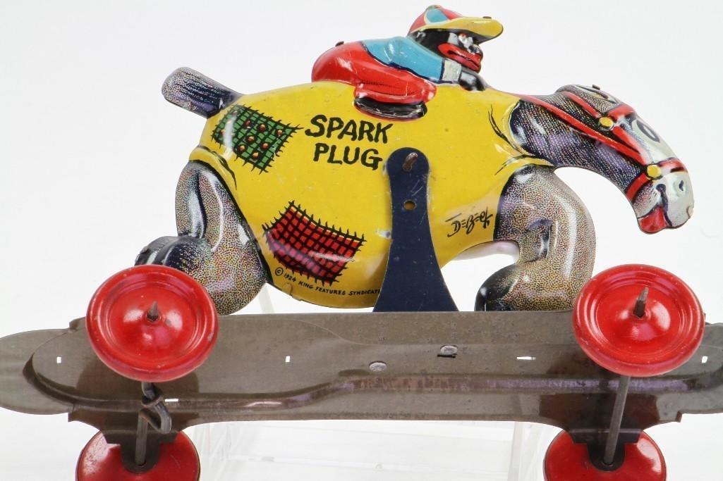 Spark Plug/ Barney Googel Pull Toy - 4