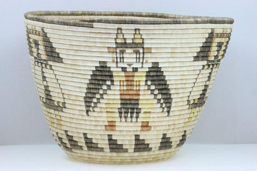 Hopi pictorial basket